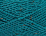 Fiber Content 61% Acrylic, 26% Wool, 13% Polyester, Turquoise, Brand ICE, Yarn Thickness 5 Bulky  Chunky, Craft, Rug, fnt2-41139