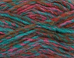 Fiber Content 43% Acrylic, 27% Polyamide, 15% Mohair, 15% Wool, Turquoise, Pink, Brand ICE, Copper, Yarn Thickness 5 Bulky  Chunky, Craft, Rug, fnt2-41170