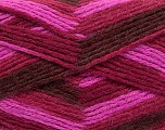 Fiber Content 80% Acrylic, 20% Wool, Pink, Maroon, Brand ICE, Burgundy, Yarn Thickness 3 Light  DK, Light, Worsted, fnt2-41278