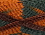 Fiber Content 80% Acrylic, 20% Wool, Brand ICE, Gold, Dark Grey, Brown, Yarn Thickness 3 Light  DK, Light, Worsted, fnt2-41282
