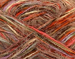 Fiber Content 65% Acrylic, 35% Polyamide, White, Orange, Lilac, Brand ICE, Brown, Beige, fnt2-41702