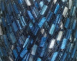 Trellis  Composition 100% Polyester, Brand Ice Yarns, Blue Shades, Yarn Thickness 5 Bulky  Chunky, Craft, Rug, fnt2-42903