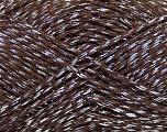 Fiber Content 80% Mako Cotton, 20% Metallic Lurex, Silver, Brand Ice Yarns, Brown, fnt2-44196