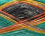 Fiber Content 45% Wool, 45% Bamboo, 10% Acrylic, Yellow, Orange, Brand Ice Yarns, Grey, Green, fnt2-44529