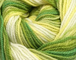 Composition 80% Baby acrylique, 20% Polyamide, White, Brand Ice Yarns, Green Shades, fnt2-44551