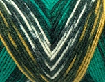 Fiber Content 50% Acrylic, 50% Wool, Yellow, White, Brand Ice Yarns, Green Shades, fnt2-44554