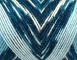 Fiber Content 50% Acrylic, 50% Wool, White, Brand Ice Yarns, Blue Shades, fnt2-44555