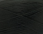 Composition 100% Micro Acrylic, Brand Ice Yarns, Black, Yarn Thickness 3 Light  DK, Light, Worsted, fnt2-44720