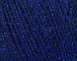 Fiber Content 52% Metallic Lurex, 48% Polyester, Brand Ice Yarns, Blue, Yarn Thickness 3 Light  DK, Light, Worsted, fnt2-44803