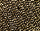 Composition 52% Métallique Lurex, 48% Polyester, Brand Ice Yarns, Gold, Black, Yarn Thickness 3 Light  DK, Light, Worsted, fnt2-44807
