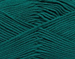 Composition 55% Coton, 45% Acrylique, Teal, Brand Ice Yarns, Yarn Thickness 4 Medium  Worsted, Afghan, Aran, fnt2-45144
