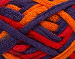 Composition 100% Acrylique, Red, Purple, Orange, Brand Ice Yarns, Yarn Thickness 6 SuperBulky  Bulky, Roving, fnt2-45180