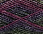 Composition 90% Acrylique, 10% Polyamide, Purple, Maroon, Brand Ice Yarns, Green, Burgundy, Yarn Thickness 4 Medium  Worsted, Afghan, Aran, fnt2-45229
