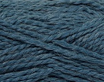 Composition 70% Acrylique, 30% Alpaga, Jeans Blue, Brand Ice Yarns, Yarn Thickness 5 Bulky  Chunky, Craft, Rug, fnt2-45237