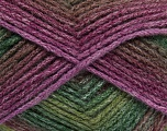 Fiber Content 61% Acrylic, 25% Wool, 14% Polyamide, Maroon, Lilac, Brand Ice Yarns, Green Shades, fnt2-45241