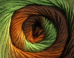 Composition 50% Laine, 50% Acrylique, Brand Ice Yarns, Green Shades, Brown Shades, fnt2-45316