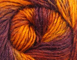 Fiber Content 70% Dralon, 30% Wool, Orange, Maroon, Brand Ice Yarns, Copper, Burgundy, fnt2-45407