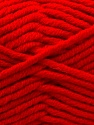 Composition 50% Laine mérinos, 50% Acrylique, Red, Brand KUKA, Yarn Thickness 5 Bulky  Chunky, Craft, Rug, fnt2-16723
