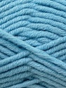 Composition 50% Laine mérinos, 50% Acrylique, Light Blue, Brand KUKA, Yarn Thickness 5 Bulky  Chunky, Craft, Rug, fnt2-16730