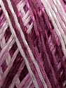 Fiber Content 70% Mercerised Cotton, 30% Viscose, Purple, Pink, Maroon, Lilac, Brand KUKA, Yarn Thickness 2 Fine  Sport, Baby, fnt2-16814