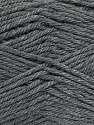 Composition 55% en laine d'agneau, 25% Acrylique, 20% Polyamide, Brand KUKA, Grey, Yarn Thickness 3 Light  DK, Light, Worsted, fnt2-17555