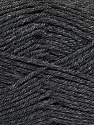 Fiber Content 55% Lambs Wool, 25% Acrylic, 20% Polyamide, Brand KUKA, Dark Grey, Yarn Thickness 3 Light  DK, Light, Worsted, fnt2-17556