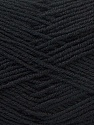 Fiber Content 55% Virgin Wool, 5% Cashmere, 40% Acrylic, Brand Ice Yarns, Black, Yarn Thickness 2 Fine  Sport, Baby, fnt2-21110