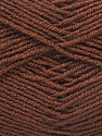 Composition 55% Laine vierge, 5% Cachemire, 40% Acrylique, Brand ICE, Brown, Yarn Thickness 2 Fine  Sport, Baby, fnt2-21115