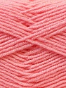 Composition 55% Laine vierge, 5% Cachemire, 40% Acrylique, Light Pink, Brand ICE, Yarn Thickness 2 Fine  Sport, Baby, fnt2-21124