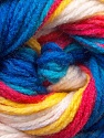 This is another self-stripping yarn. The difference of this type is it has both self-patterni and spots between the stripes. Fiber Content 100% Baby Acrylic, Yellow, White, Red, Multicolor, Brand ICE, Blue, Yarn Thickness 2 Fine  Sport, Baby, fnt2-21917