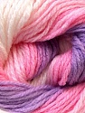 This is another self-stripping yarn. The difference of this type is it has both self-patterni and spots between the stripes. Composition 100% Baby acrylique, White, Pink, Multicolor, Lilac, Brand ICE, Yarn Thickness 2 Fine  Sport, Baby, fnt2-21918