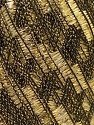 Trellis 20 stitches and 28 rows for 10 cm x 10 cm (4&amp x 4&amp) Fiber Content 95% Polyester, 5% Lurex, Brand ICE, Gold, Black, Yarn Thickness 5 Bulky  Chunky, Craft, Rug, fnt2-21962