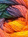 Composition 95% Acrylique, 5% Lurex, Yellow, Purple, Orange, Brand ICE, Green, Blue, Yarn Thickness 3 Light  DK, Light, Worsted, fnt2-22056