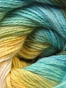 Composition 60% Acrylique, 20% Angora, 20% Laine, Yellow, White, Brand ICE, Green, Blue, Yarn Thickness 2 Fine  Sport, Baby, fnt2-22385