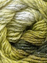 Composition 95% Acrylique, 5% Lurex, Brand ICE, Green Shades, Yarn Thickness 3 Light  DK, Light, Worsted, fnt2-22390