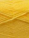 Composition 100% Acrylique, Yellow, Brand ICE, Yarn Thickness 3 Light  DK, Light, Worsted, fnt2-22429