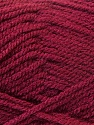 Composition 100% Acrylique, Brand ICE, Burgundy, Yarn Thickness 3 Light  DK, Light, Worsted, fnt2-22433