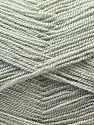 Very thin yarn. It is spinned as two threads. So you will knit as two threads. Fiber Content 100% Acrylic, Brand ICE, Grey, Yarn Thickness 1 SuperFine  Sock, Fingering, Baby, fnt2-22437
