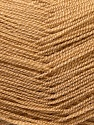 Very thin yarn. It is spinned as two threads. So you will knit as two threads. Fiber Content 100% Acrylic, Light Brown, Brand ICE, Yarn Thickness 1 SuperFine  Sock, Fingering, Baby, fnt2-22438