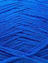 Very thin yarn. It is spinned as two threads. So you will knit as two threads. Fiber Content 100% Acrylic, Brand ICE, Blue, Yarn Thickness 1 SuperFine  Sock, Fingering, Baby, fnt2-22440