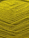 Very thin yarn. It is spinned as two threads. So you will knit as two threads. Fiber Content 100% Acrylic, Light Olive Green, Brand ICE, Yarn Thickness 1 SuperFine  Sock, Fingering, Baby, fnt2-22443