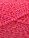 Very thin yarn. It is spinned as two threads. So you will knit as two threads. Fiber Content 100% Acrylic, Pink, Brand ICE, Yarn Thickness 1 SuperFine  Sock, Fingering, Baby, fnt2-22448