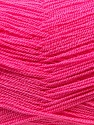 Very thin yarn. It is spinned as two threads. So you will knit as two threads. Fiber Content 100% Acrylic, Brand ICE, Candy Pink, Yarn Thickness 1 SuperFine  Sock, Fingering, Baby, fnt2-22449