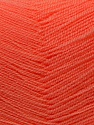Very thin yarn. It is spinned as two threads. So you will knit as two threads. Composition 100% Acrylique, Light Salmon, Brand ICE, Yarn Thickness 1 SuperFine  Sock, Fingering, Baby, fnt2-22451