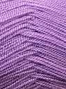 Very thin yarn. It is spinned as two threads. So you will knit as two threads. Composition 100% Acrylique, Lilac, Brand ICE, Yarn Thickness 1 SuperFine  Sock, Fingering, Baby, fnt2-22457