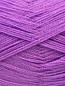 Very thin yarn. It is spinned as two threads. So you will knit as two threads. Composition 100% Acrylique, Lavender, Brand ICE, Yarn Thickness 1 SuperFine  Sock, Fingering, Baby, fnt2-22458