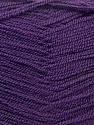 Very thin yarn. It is spinned as two threads. So you will knit as two threads. Composition 100% Acrylique, Purple, Brand ICE, Yarn Thickness 1 SuperFine  Sock, Fingering, Baby, fnt2-22459