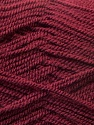Very thin yarn. It is spinned as two threads. So you will knit as two threads. Composition 100% Acrylique, Brand ICE, Burgundy, Yarn Thickness 1 SuperFine  Sock, Fingering, Baby, fnt2-22462