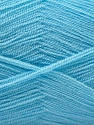 Very thin yarn. It is spinned as two threads. So you will knit as two threads. Composition 100% Acrylique, Light Blue, Brand ICE, Yarn Thickness 1 SuperFine  Sock, Fingering, Baby, fnt2-22666