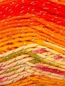 Fiber Content 95% Acrylic, 5% Lurex, Yellow, Orange, Brand ICE, Cream, Yarn Thickness 3 Light  DK, Light, Worsted, fnt2-23510